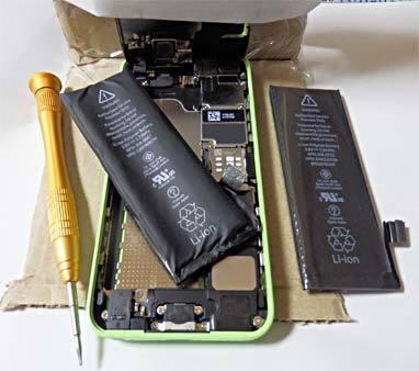 iPhone5Cのバッテリー交換