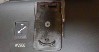 iP2700 CISS 穴にゴムを付ける