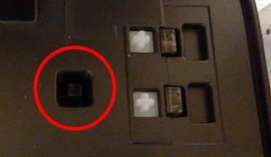 iP2700 CISS カートリッジの動作スイッチ