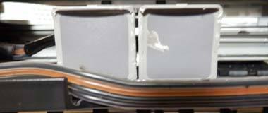 iP2700 CISS カートリッジの蓋を削る
