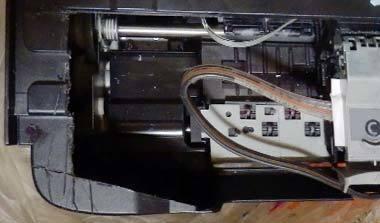 iP2700 CISS ガワを切断し開放