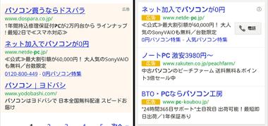 Google Adwordsのスマホ広告